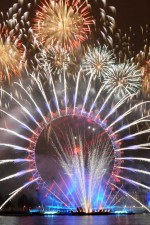 New Year's Eve Fireworks From London